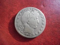 USA - Etats Unis D' Amérique ½ Dollar Barber Half Dollar 1913 S (604 000 Ex.) @ Silver Argent 12,5 G. à 90% @ KM# 116 - 1892-1915: Barber