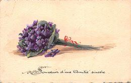 ¤¤  -  ILLUSTRATEUR    -  Bouquet De Violettes Peinte à La Main  -  ¤¤ - Fleurs