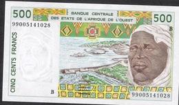W.A.S. BENIN P210Bk 500 FRANCS (19)99 1999  UNC. - Benin