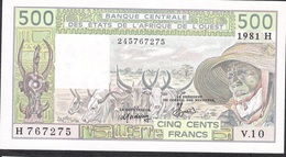 W.A.S. NIGER P606He 500 FRANCS 1981  UNC. - Niger