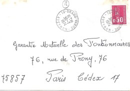 AVEYRON - 12 - GRAND VABRE    TàD De Type A9 De 1974 - Marcophilie (Lettres)