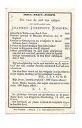 P 284. E.H.  JOANNES-J. KNAPEN - °METTECOVEN 1801 / MUNSTER (PRUISEN) / GUTSCHOVEN / GROOT-GELMEN / ZEPPEREN Aldaar+1872 - Devotion Images