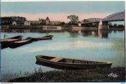 44 PONT DE VAUX - La Saône. Pont De Fleurville (barques) - Pont-de-Vaux
