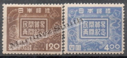 Japan - Japon 1947 Yvert 374-75, Recovery Of Private Trade - MNH - Nuovi