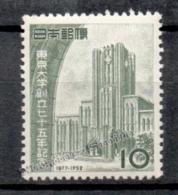 Japan - Japon 1952 Yvert 518, 75th Anniv. Of The Universal Foundation In Tokyo - MNH - 1926-89 Keizer Hirohito (Showa-tijdperk)