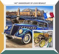 Sierra Leone 2017 140th Anniversary Of Louis Renault - Famous People