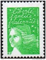 France Marianne Du 14 Juillet N° 3535 Aa ** Luquet - Variété Le TVP RF Vert Sans Phosphore - 1997-04 Maríanne Du 14 Juillet