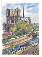 Paris - Notre-Dame - Peintures De Alfau - Editions Krisarts - Notre Dame De Paris