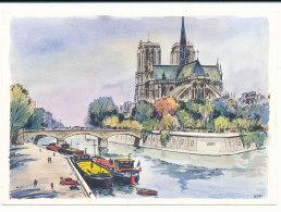 Paris - Notre-Dame - Abside - Peintures De Alfau - Editions Krisarts - Notre Dame Von Paris