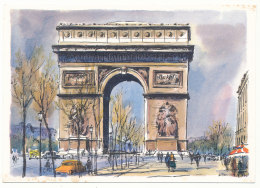 Paris - Arc De Triomphe - Peintures De Alfau - Editions Krisarts - Triumphbogen