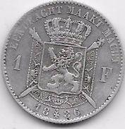 Belgique - 1 Franc 1886 - Argent - 1865-1909: Leopold II