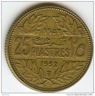 Liban Lebanon 25 Piastres 1952 KM 16.1 - Liban