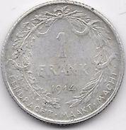 Belgique - 1 Franc 1914 - Argent - 1909-1934: Albert I