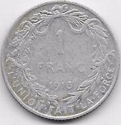 Belgique - 1 Franc 1913 - Argent - 1909-1934: Albert I