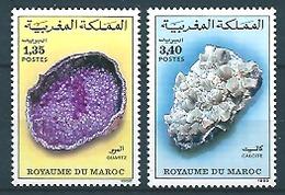 Maroc - Morrocco (1992) Yv. 1120/21  /  Minerals - Mineraux - Minéraux
