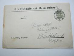 1921 , DELMENHORST , Klarer Stempel Auf Dienstbrief - Brieven En Documenten