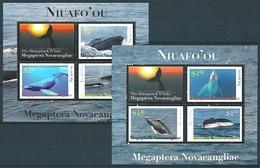 Tonga - Niuafo'ou (2012)  Yv. Bf. 41/42  /  Whale - Whales - Marine Fauna - Beleines - Wal - Walvissen