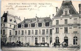Château Des Vaux - Rendez-vous De Chasse - Equipage Chambray (état : Pli Coin Droit , Manque Timbre ) - Châteaux