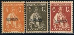 Açores, 1930/1, # 296/8, Ferrugem, MHNG - Açores