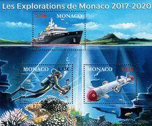 Monaco - 2017 - Monaco Marine Explorations - Mint Souvenir Sheet - Unused Stamps