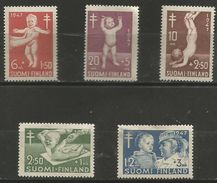 Finland - 1947 TB Fund MNH **  Sc B82-6 - Unused Stamps