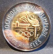 CONI - MEDAGLIA CELEBRATIVA GIOCHI XXIII OLIMPIADE DI LOS ANGELES - ORO / ARGENTO - FDC - BIMETALLICA - Professionals/Firms