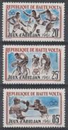 "Upper Volta (Burkina Faso), ""Friendship Games"" In Abidjan, 1962, MH VF, Complete Set Of 3 - Upper Volta (1958-1984)"