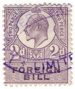 (I.B) Edward VII Revenue : Foreign Bill 2d - 1902-1951 (Kings)
