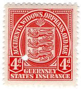 (I.B) Guernsey Revenue : Insurance 4d - 1902-1951 (Kings)