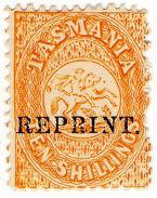 (I.B) Australia - Tasmania Revenue : Stamp Duty 10/- (1889 Reprint) - Australia
