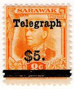 (I.B) Sarawak Telegraphs : Overprint $5 - Sarawak (...-1963)