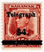 (I.B) Sarawak Telegraphs : Overprint $4 - Sarawak (...-1963)