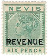 (I.B) Nevis (St Kitts) Revenue : Duty Stamp 6d (1883) - St.Kitts And Nevis ( 1983-...)