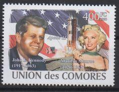 Comores Comoros Komoren 2008 USA President John F. Kennedy Marilyn Monroe Apollo 11 Space Espace Mi. I-VI Bl. I Unissued - Musique