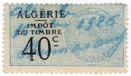 (I.B) France Colonial Revenue : Algeria Duty 40c - Europe (Other)