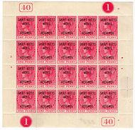 (I.B) St Kitts Revenue : Duty Stamp 1d - St.Kitts And Nevis ( 1983-...)