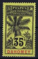 Dahomy Yv Nr 26  MH/* Flz/ Charniere - Dahomey (1899-1944)