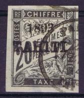 Tahiti Yv  Nr 21 Tax Used Obl Tache Mince/thin Spot - Used Stamps