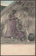 Zulu Girls Dressing Hair, South Africa, 1905 - Sallo Epstein Postcard - South Africa