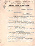 Proposta Contratto ANONIMA ELETTRICA TREVIGIANA Fornitura Energia Elettrica 1939 - Italia