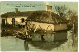 85 Les Plus Beaux Paysages De La Vendée Maraîchine - Chaumière Et Bourine En Hiver - Frankreich