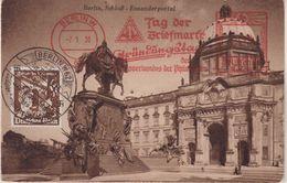 """ALLEMAGNE : CP . OBL . MECANIQUE . DE """" BERLIN CONGRES PHILATELIQUE """" . 1936 . - Allemagne"""