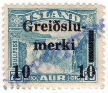 (I.B) Iceland Revenue : Postal Order Fee Stamp 10c - Ohne Zuordnung