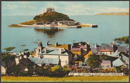St Michael's Mount From Marazion, Cornwall, C.1950s - Dearden & Wade Postcard - St Michael's Mount