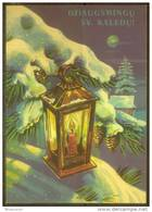 RUSSIA USSR Stamped Stationery Post Card USSR PC 13-697 LITHUANIA New Year USED!!! - Ohne Zuordnung