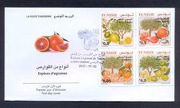 Tunisia/Tunisie 2017 - FDC + Flyer - Citrus Fruits From Tunisia - MNH** Excellent Quality - Tunisia