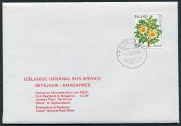 1984 Iceland Reykjavik - Borgarnes Bus Service Cover. Only 10 Covers Carried - 1944-... Repubblica