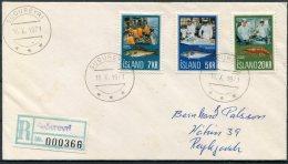 1971 Iceland Sudureyri Registered Fish Industry Cover - 1944-... Republic