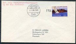 1966 Iceland Denmark FRA ISLAND Paquebot Ship Cover. - 1944-... Republic
