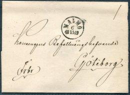1869 Sweden Malmo Fribrev Cover - Sweden
